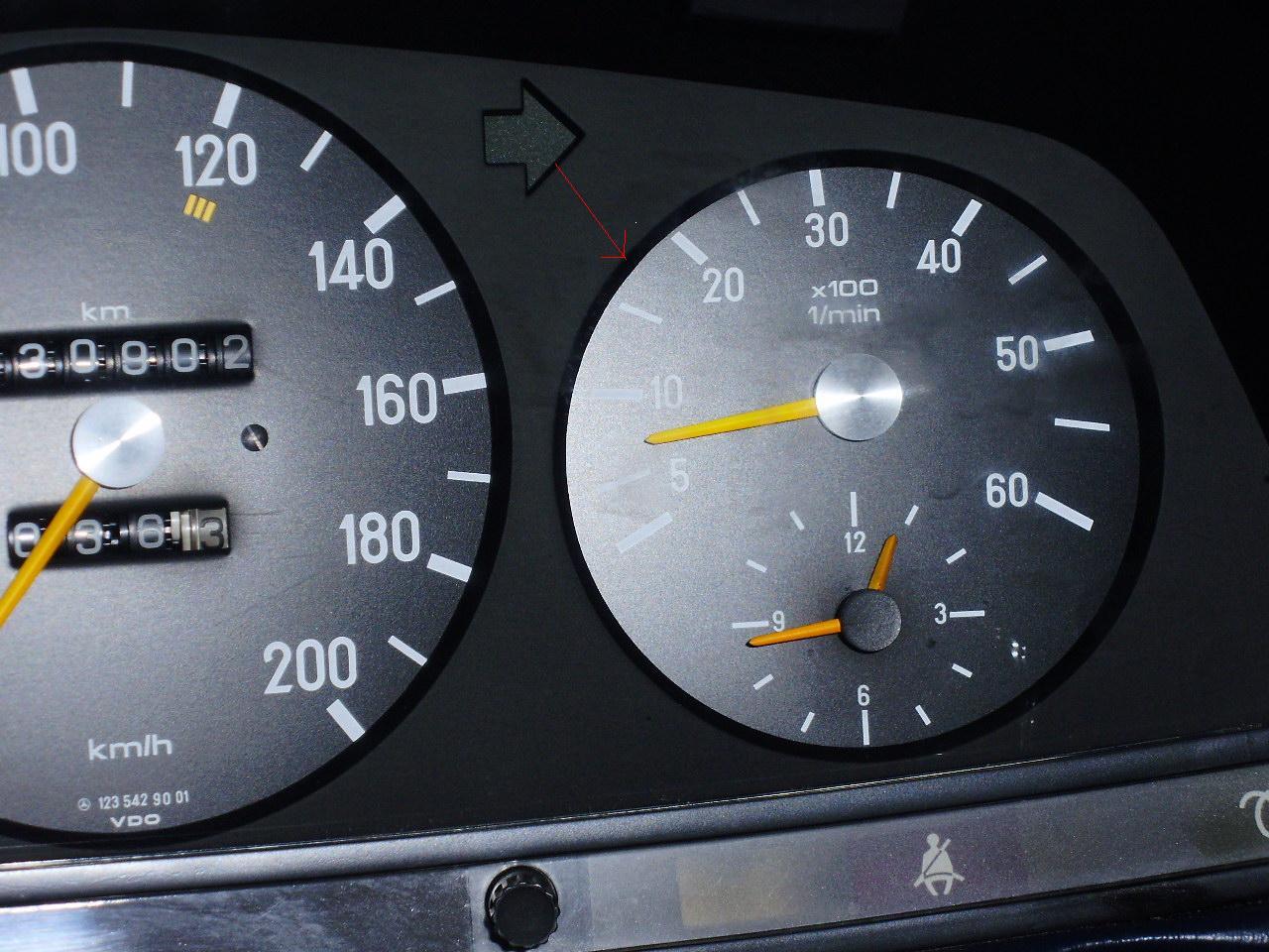 Car Instructions  U00bb W123 Mercedes Benz 300d Tachometer